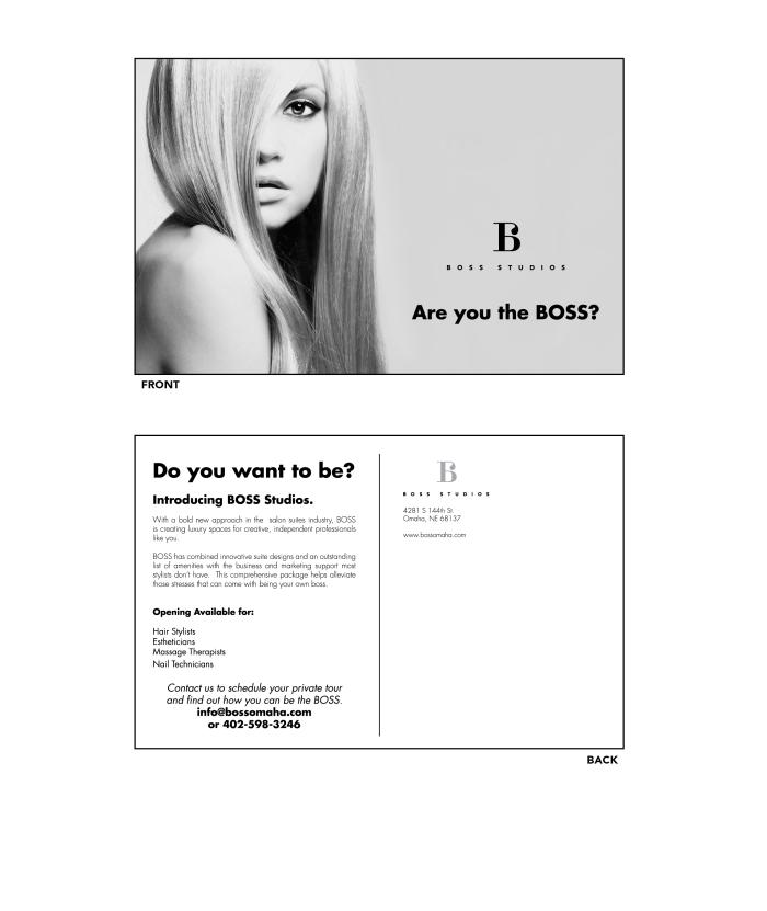 BOSS Studios Postcard